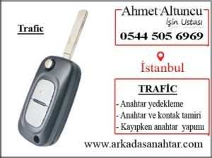Trafic key and key shell