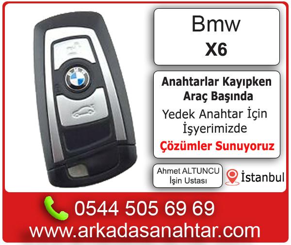 BMW X6 yedek ve kayıp anahtar kodlama 0544 505 6969. Tüm anahtarlarınız kaybolsada çözümler sunuyoruz. Arkadaş oto Anahtar & Çilingir İstanbul'da 30 yılı aşkın bir süredir ultra profesyonel oto anahtarcı olarak hizmet vermektedir.