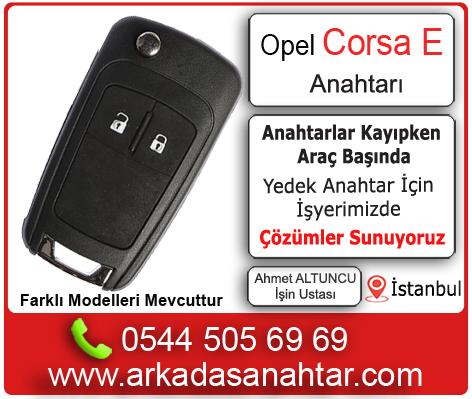 Opel Corsa E yedek ve kayıp kontak anahtarı